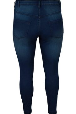 zizzi slim fit jeans »amy« blauw