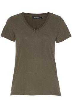soaked in luxury shirt met v-hals groen