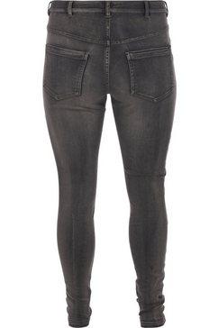 zizzi slim fit jeans amy enkellang grijs