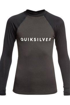quiksilver - always there - rash vest met lange mouwen en upf 50 voor jongens 8-16 zwart