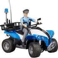bruder politiequad met politieagente, »bworld« blauw