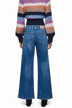 pepe jeans wijd uitlopende jeans »groove dua lipa x pepe jeans« blauw