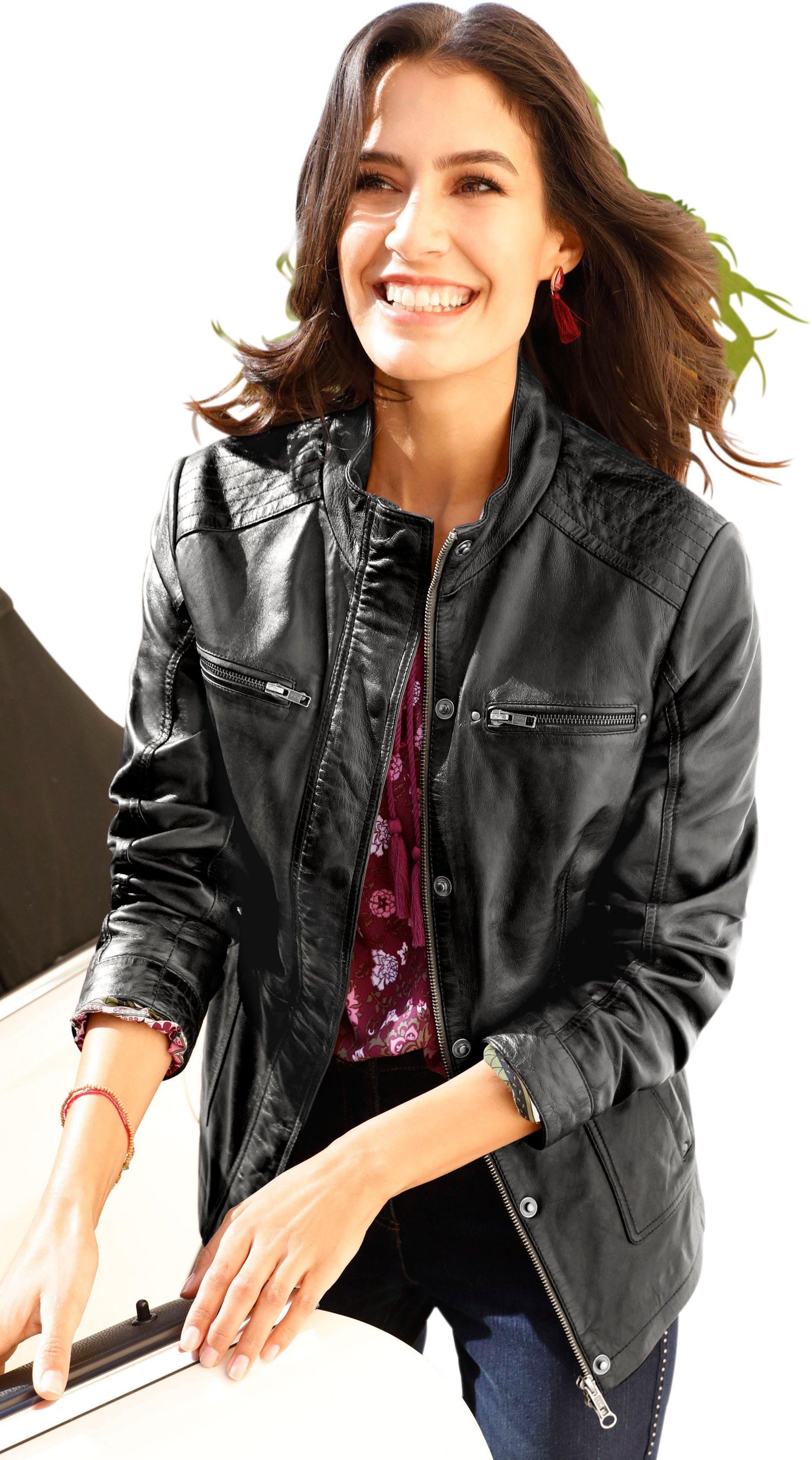 Classic Inspirationen Mainpol leren jasje in trendy used-look goedkoop op otto.nl kopen