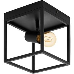 eglo plafondlamp »silentina«, zwart