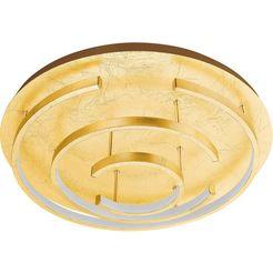 eglo led-plafondlamp »pozondon«, goud