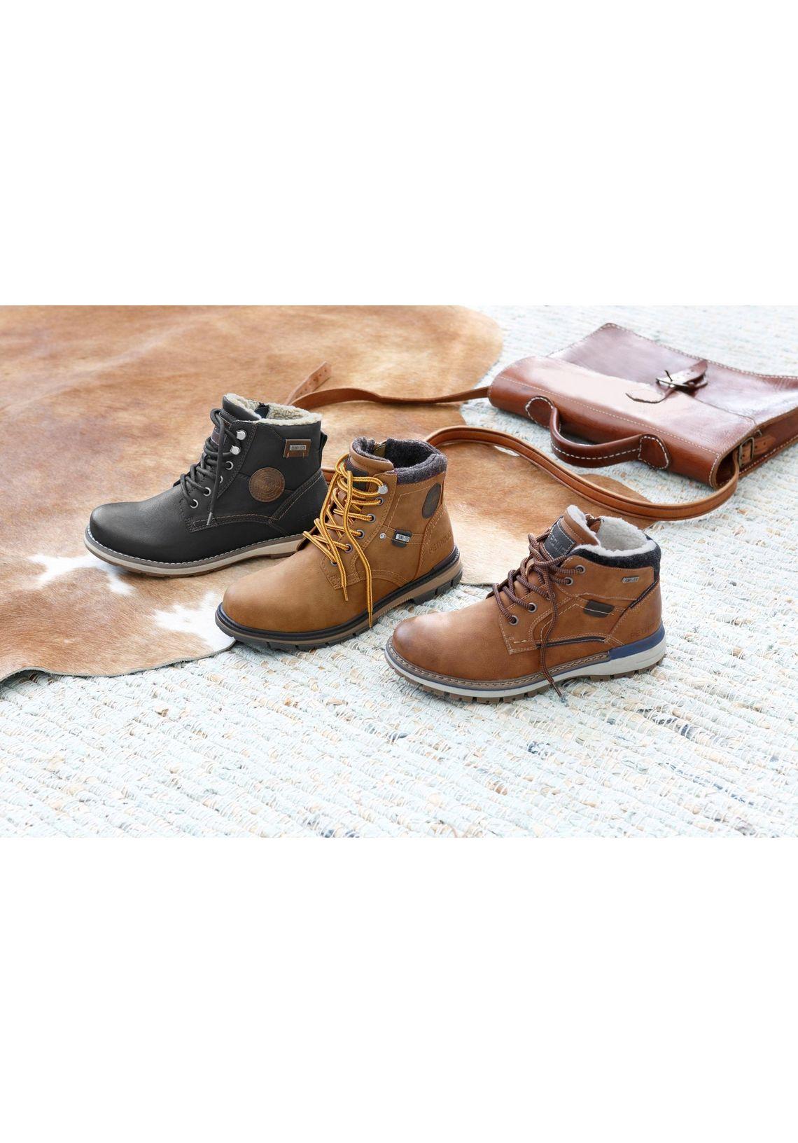 PETROLIO hoge veterschoenen snel online gekocht  camelkleur
