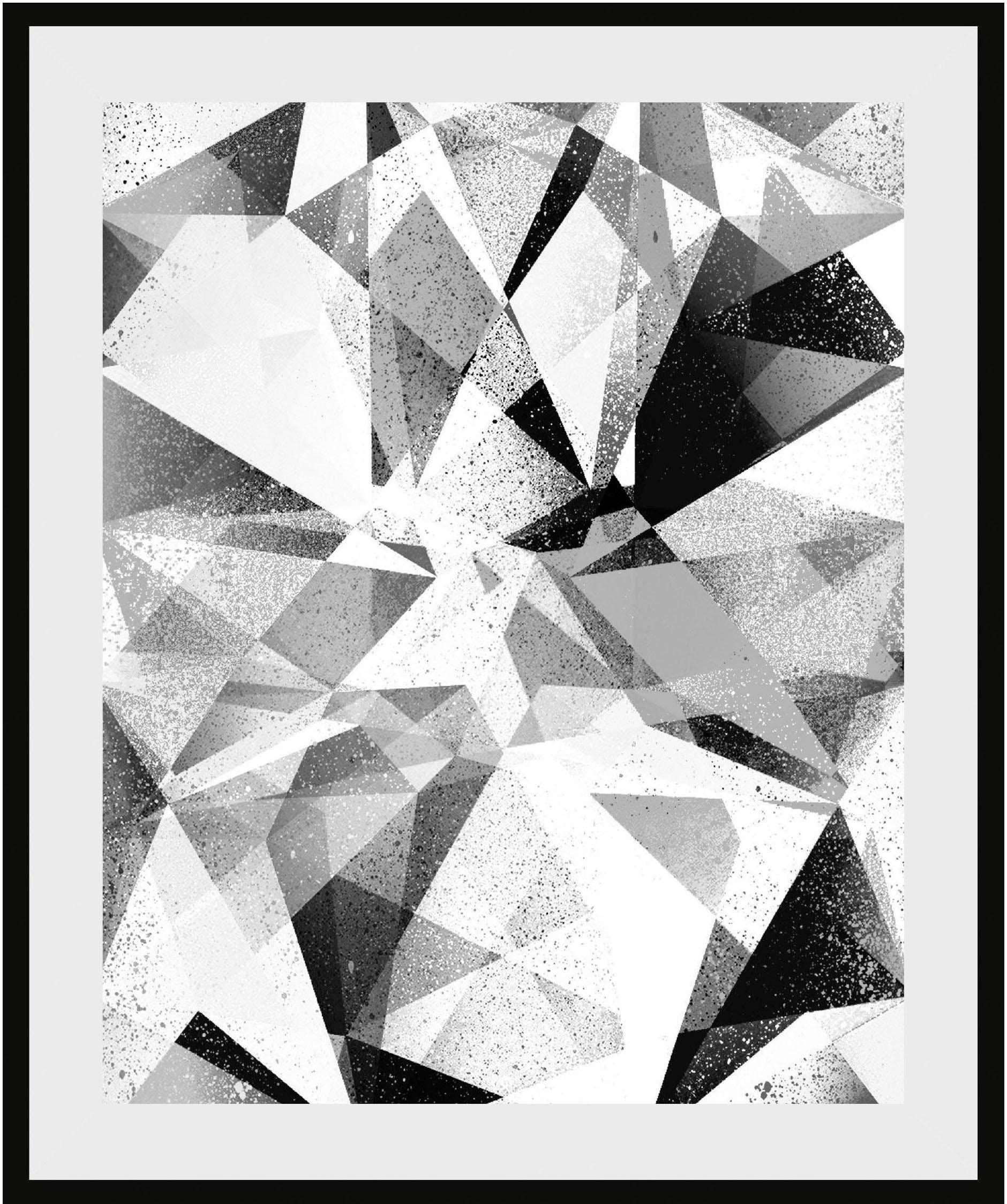 Places of Style wanddecoratie Abstracte kunst met frame bestellen: 30 dagen bedenktijd