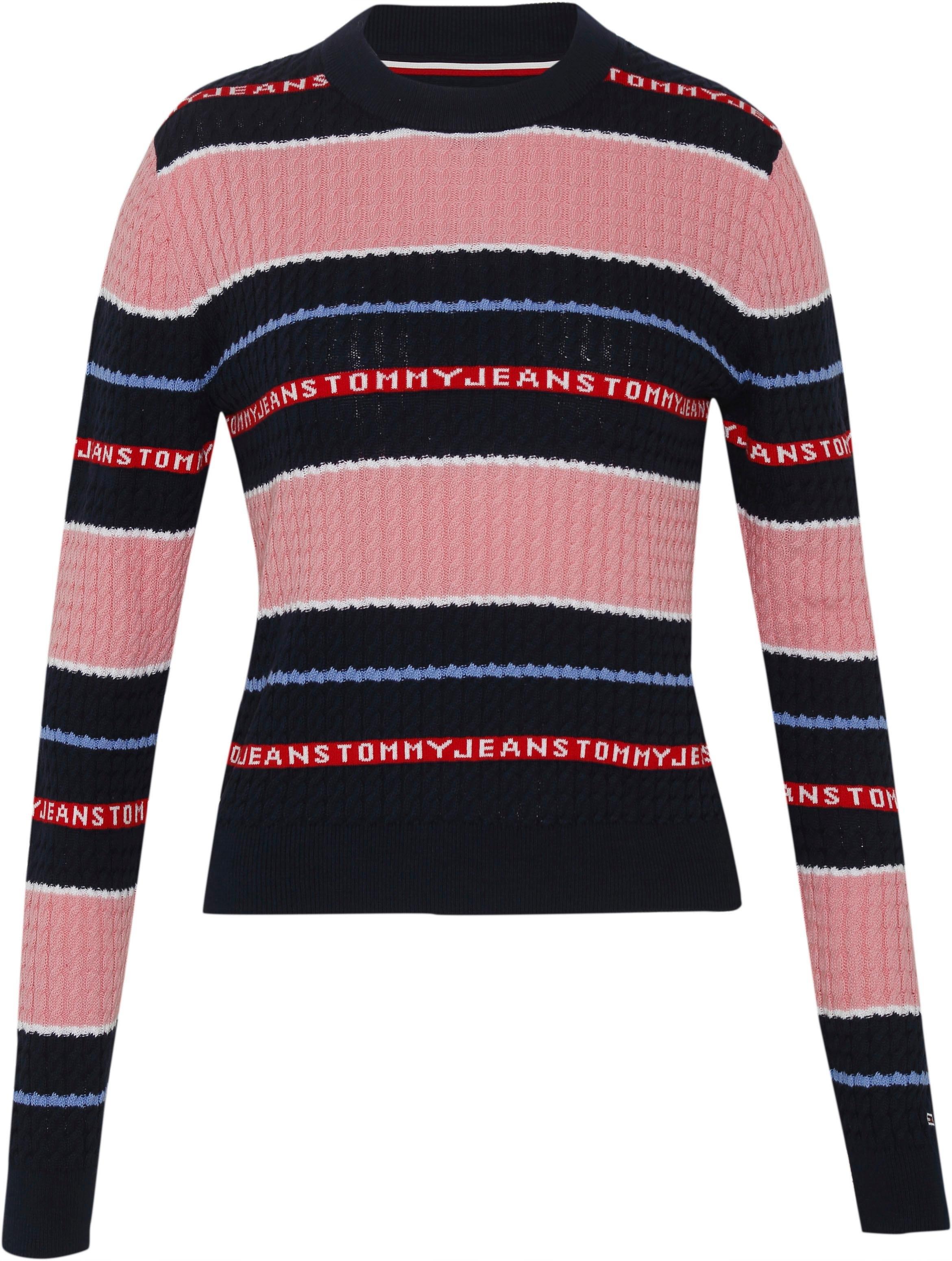 Op zoek naar een Tommy Jeans sweatshirt »TJW LOGO STRIPE CABLE SWEATER«? Koop online bij OTTO