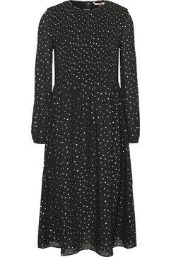 tommy jeans gesmokte jurk »tjw smock detail midi dress« zwart