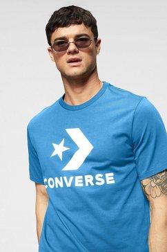 converse t-shirt »converse star chevron tee« blauw