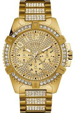 guess multifunctioneel horloge »frontier, w0799g2« goud