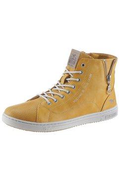 mustang shoes hoge veterschoenen geel