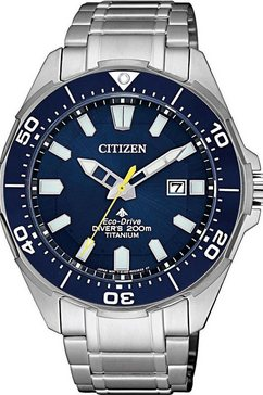 citizen duikhorloge promaster marine eco-drive diver 200m, bn0201-88l zilver