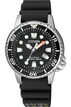 citizen duikhorloge »promaster marine eco-drive diver 200m, ep6050-17e« zwart