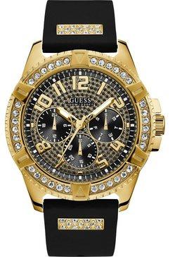 guess multifunctioneel horloge »frontier, w1132g1« zwart