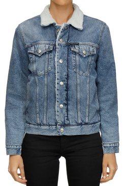 calvin klein jeansjack »sherpa foundation denim trucker« blauw