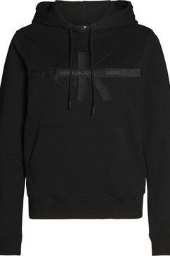 calvin klein hoodie »taping through monogram hoodie« zwart