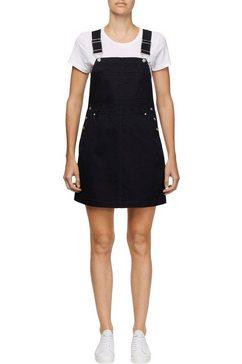 calvin klein zomerjurk »cotton twill dungaree dress« zwart