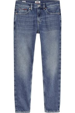 tommy jeans slim fit jeans »izzy high rise slim ankle sndm« blauw