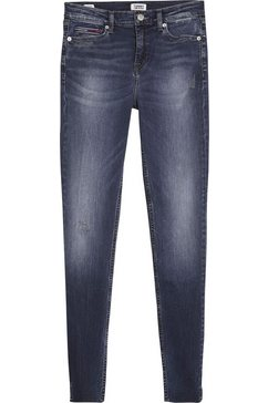 tommy jeans skinny fit jeans »nora mid rise skinny ankle dlydk« blauw