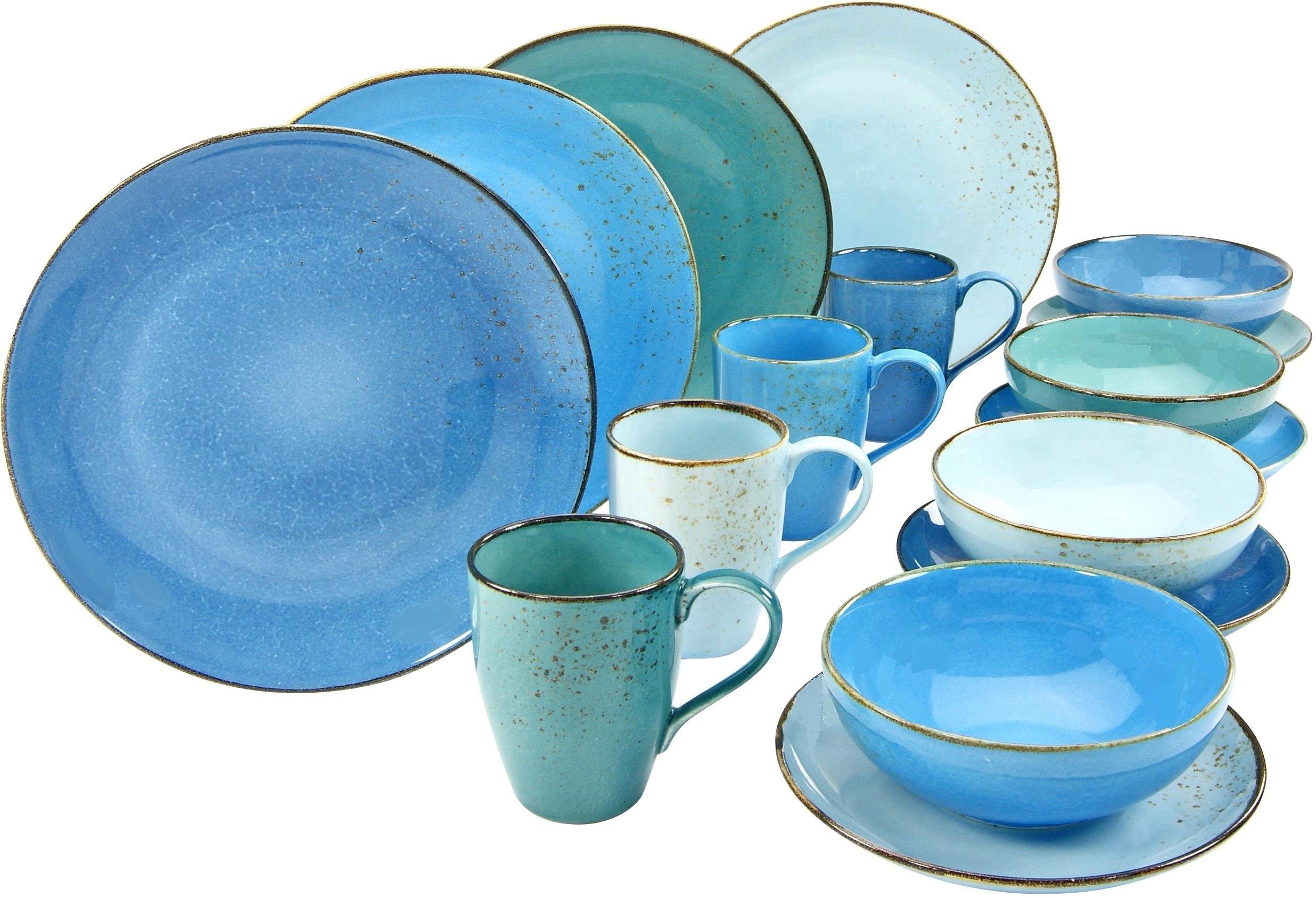 CreaTable combi-servies NATURE COLLECTION Aqua Trendy blauwe tinten (set, 16 delig) bestellen: 30 dagen bedenktijd