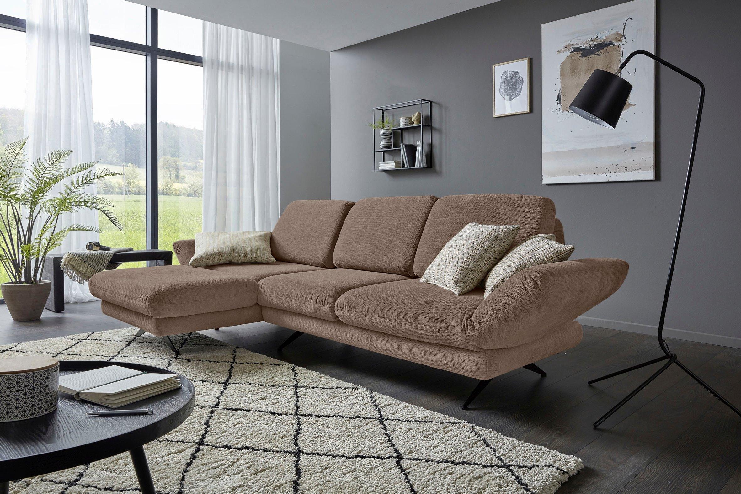 Places of Style hoekbank Saletto modern design, met armleuningfunctie, naar keuze met draaizitting en verstelbare rugleuning - gratis ruilen op otto.nl