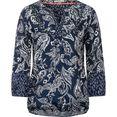 cecil gedessineerde blouse blauw