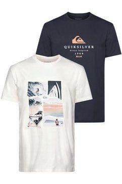 quiksilver t-shirt »remains lives flaxton pack« zwart