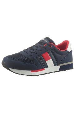 tommy hilfiger sneakers met logo-opschrift op de loopzool blauw