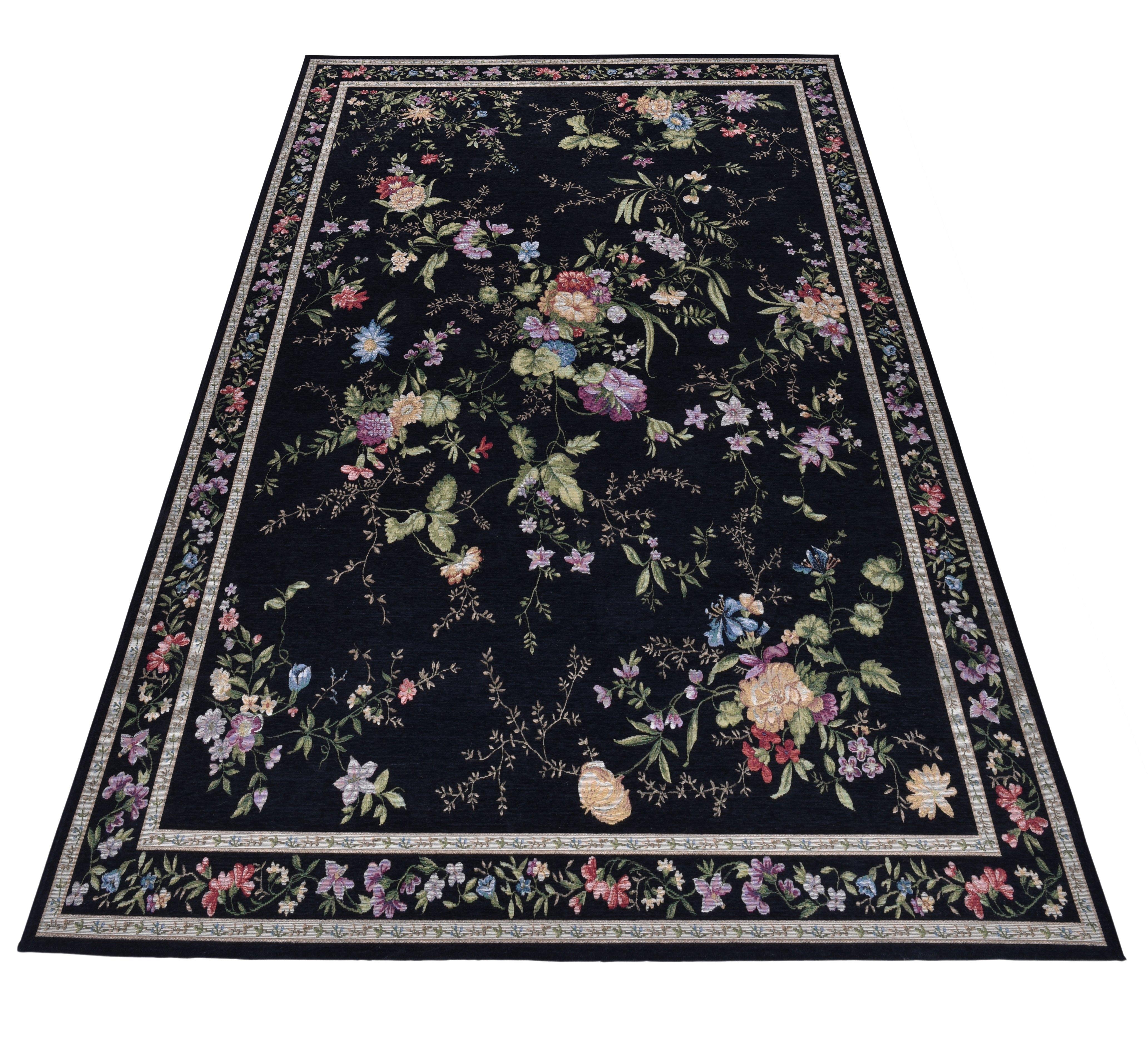 THEKO vloerkleed Flomi Sagrini Platweefsel, pastelkleuren, bloemen design, woonkamer nu online bestellen