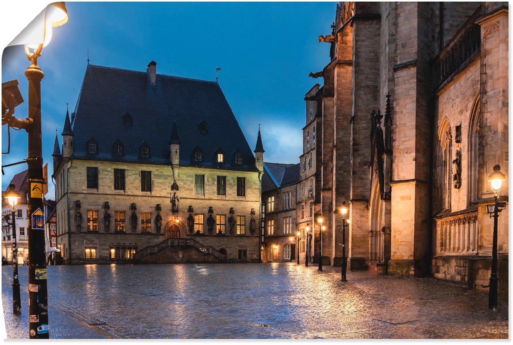 Artland artprint Stadhuis Osnabrück I in vele afmetingen & productsoorten - artprint van aluminium / artprint voor buiten, artprint op linnen, poster, muursticker / wandfolie ook geschikt voor de badkamer (1 stuk) nu online bestellen