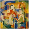 artland print op glas olifant, paard, rund. 1914. (1 stuk) multicolor