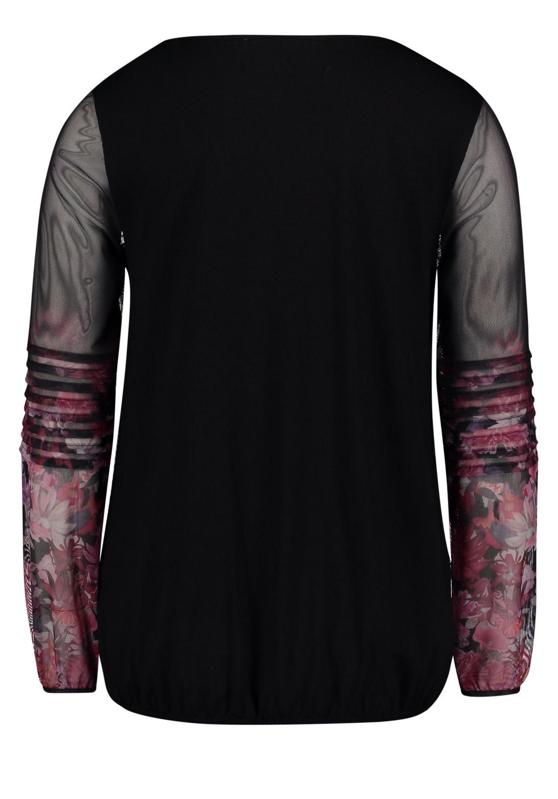 Betty&co Patchwork Shirt Met Lange Mouwen Nu Online Bestellen Zwart/donker Roze - Grijs SYbtAJkT