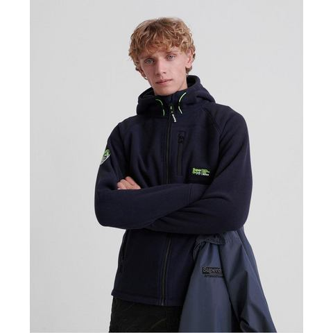 Superdry fleecevest zwart