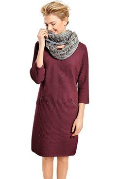 jurk in flatteuze, lichte a-lijn rood