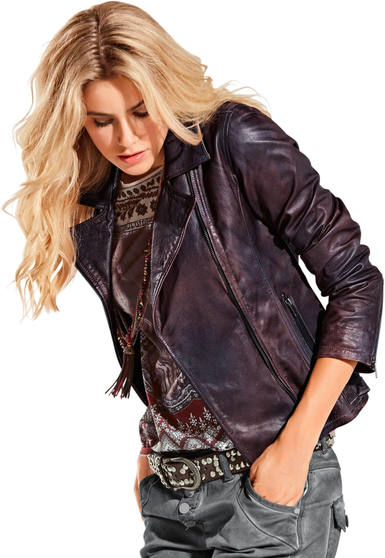 Classic Inspirationen Leren jasje in casual look online kopen op otto.nl