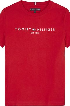 tommy hilfiger t-shirt »essential tee s-s« rood