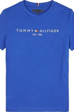 tommy hilfiger t-shirt »essential tee s-s« blauw