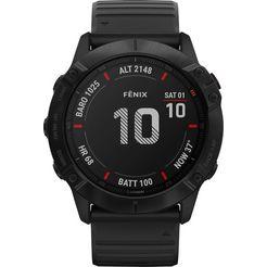garmin »fenix 6x – pro« smartwatch zwart