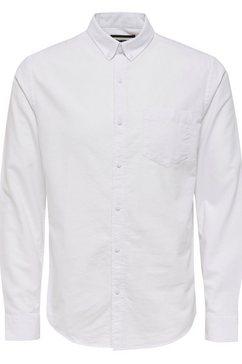 only  sons overhemd met lange mouwen »varo ls oxford shirt« wit