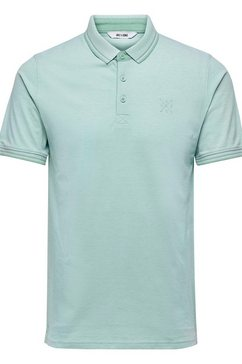 only  sons poloshirt »stan fitted polo tee« blauw
