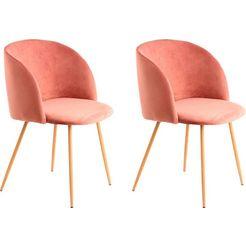 kayoom stoel celina 110 (2 stuks) roze
