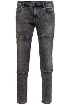 only  sons slim fit jeans »loom slim zip« grijs