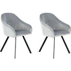 kayoom stoel jodie 125 (2 stuks) zilver