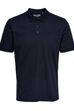 only  sons poloshirt »scott pique polo« blauw