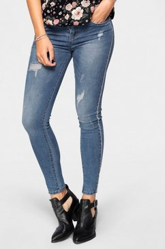 haily's skinny fit jeans »anny« blauw