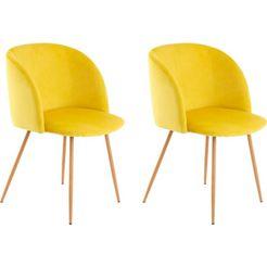 kayoom stoel celina 110 (2 stuks) geel