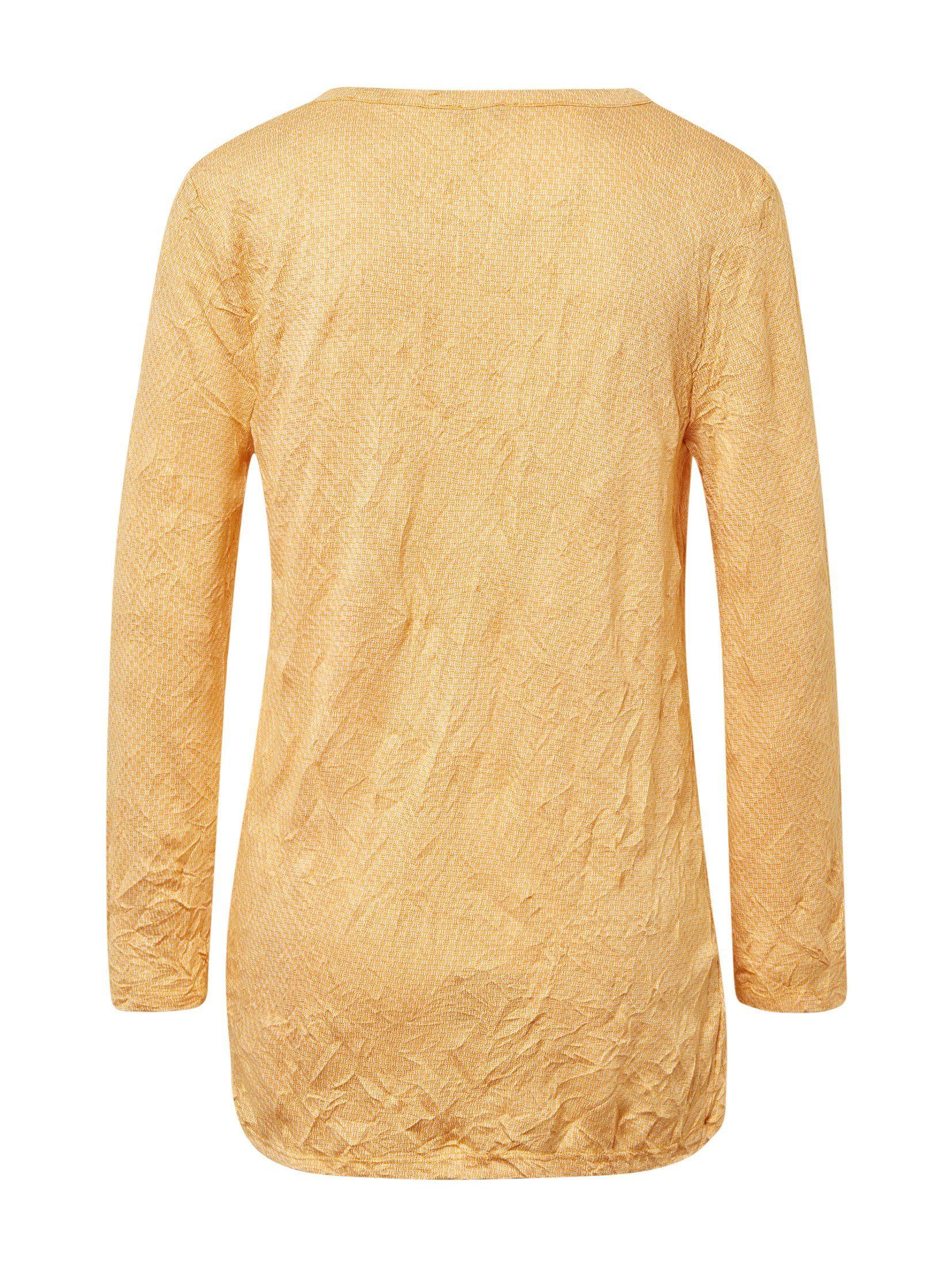 Tom Tailor Shirt Met 3/4-mouwen 3/4 Arm Mit Allover-print Makkelijk Gekocht - Geweldige Prijs