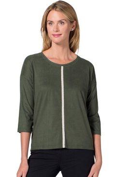 ambria veloursshirt met iets langere achterkant groen