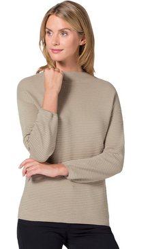 ambria trui met aangeknipte staande kraag beige